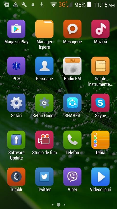 smartphone menu